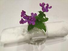 New listing 6 Set Six Clear Glass Bud Vase Place Card Holder Napkin Ring Wedding Celebration