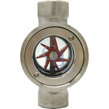 """1/2"""" BSP Stainless Steel 304 Sight Water Flow Indicator With Concentric Impeller"""