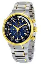 CITIZEN Eco-Drive CA0444-50L Endeavor Chronograph Blue Dial Two-Tone Watch