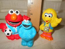 Cute Small Sesame Street Characters Figures Baby Cake Toppers Soccer Elmo