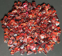 102g  TOP!!! Natural Pretty RED Garnet Rough Rock Polished Particles s849