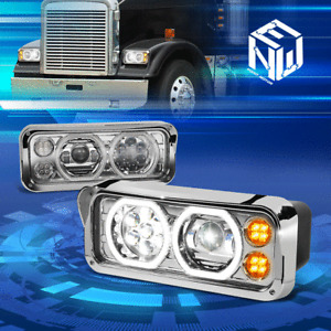 For 81-19 Kenworth T600A T800 W900 Western Star LED Projector Upgrade Headlight
