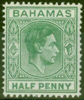 Bahamas 1938 1/2d Green SG149a Elongated E Fine Lightly Mtd Mint