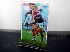 ✺Signed✺ JAKE FRIEND Photo & Frame PROOF COA Sydney Roosters NRL 2018 Jersey