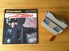 VIEW MASTER & ZORRO Book w 3 Discs (Disney) Made in Belgium. VGC/TBE !