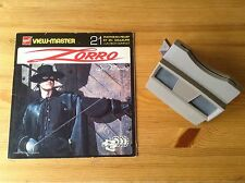 VIEW MASTER & ZORRO Book w 3 Discs (Disney) Made in Belgium. VGC/TBE !