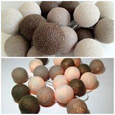 String Light Cotton Ball Saddle Brown Patio,Fairy,Garden,Wedding Party Decor