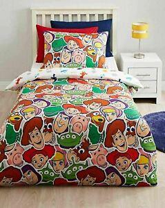 Toy Story Reversible Single Duvet Cover Tossed Bedding Set Disney Children Kids