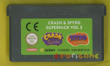 CRASH & SPYRO SUPERPACK VOL 3 Game Boy Advance Gba Fusion »»»»» SOLO CARTUCCIA