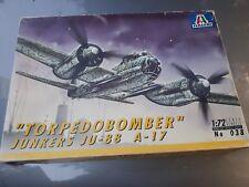 Maqueta del TORPEDOBOMBER JUNKERS JU 88 A-17 de ITALERI escala 1/72 nuevo
