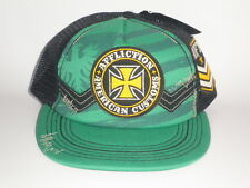 New Affliction CROSS Snapback Hat Green OSFA ($35) Cap Mesh UFC MMA Trucker RARE