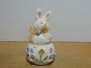 """Bunny Rabbit Votive Tea Light Candle Holder 5521 Porcelain Easter 7 1/2"""""""