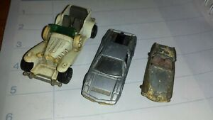matchbox cars vintage -EXCALIBUR Majorette, TOMICA Maserati, LESNEY MGA.