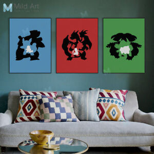 Modern Pop Japanese Anime Game Poster Prints Wall Art Home Decor Canvas Painting