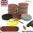 240PCS 50MM Sanding Discs Pad Kit for Drill Grinder Rotary Tools + Backing Pad