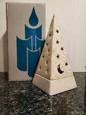 Partylite Pyramid Galaxy Star&Moon Tealight Candle Holder New Nib Retired P0161