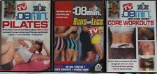 3 8 Minute Quick schnelle Übung Fitness DVD Lot Pilates Core Po Beine Workouts