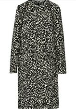 PROENZA SCHOULER BOUCLE PRINCESS COAT MONOCHROME BLACK WHITE 4US S M UK £2200