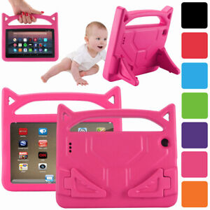 Shock Proof Handle Stand Kids Friendly Case Cover For Amazon Fire 7 2019 9th Gen