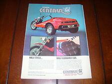 1974 Rupp Centaur Trike *Original Vintage Ad*