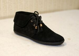 1000$ LOUIS VUITTON black suede lace up chukka sneakers ankle boots 41 us10 uk8