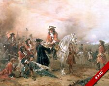 BATTLE OF BLENHEIM PAINTING WORLD MILITARY HISTORY WAR ART REAL CANVAS PRINT