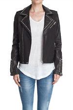 NEW $1500 Anine Bing Studded Black Leather Classic Moto Jacket
