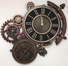 "Steampunk Lage 20.5"" Timepiece Bronze Decorative Astrology Wall Clock"