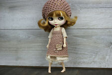 Blythe clothes dress brown white socks stockings bag footwear accesories outfit