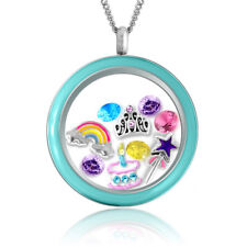 Jewelry for Girls Floating Charm Locket Princess Jewelry for Kids Necklace Crown