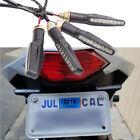 4X Motorcycle LED Turn Signal Flowing Flashing Brake Tail Light For Harley Honda