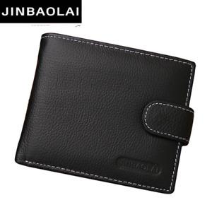 JINBAOLAI Leather Men Wallets Solid Sample Style Zipper Purse Man Card Horder Le