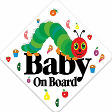 Non Personalised Baby on Board Car Sign Like Very Hungry Caterpillar