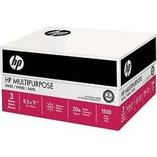 HP Multipurpose Ultra White Paper Letter 20lb 96-Bright 1500ct