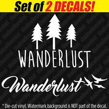 WANDERLUST Vinyl Decal Sticker World Travel Yoga Explorer 4x4 Mountains Nature