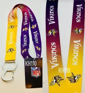 Minnesotta vikings NFL Keychain & Bottle Opener Lanyard