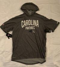 Men's Carolina Panthers Nike Sideline Playbook Short Sleeve Hoodie NWT 2XL XXL