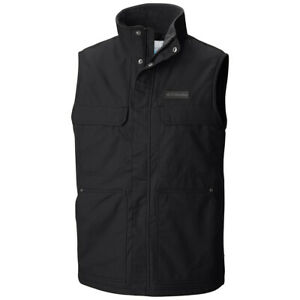 "New Mens Columbia ""Larix Park"" Water-Resistant Fleece Lined Canvas Vest"