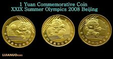 CHINA CHINESE SET 3 COINS 1 Yuan XXIX Summer Olympics 2008 Beijing UNC COIN