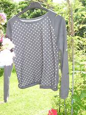 Shirt grau mit türkisen Punkten Gr S , weit geschnitten, neu