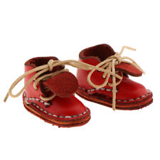 5e4a1418396 Fashion Shoes PU Leather Lace up Ankle Boots for 12   Blythe Doll - Red