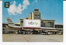 IBERIA AIRLINES OF SPAIN DOUGLAS DC-8 EC-ARB AT MADRID BARAJAS 1960'S POSTCARD