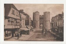 West Gate Canterbury Vintage Postcard 277a
