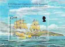 TRISTAN DA CUNHA - 2015 - Miniature Sheet: USS Hornet & HMS Penguin. Mint NH