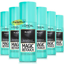3x Loreal Magic Retouch Black Instant Root Concealer Spray 75ml