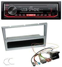 JVC 1DIN MP3 USB AUX Autoradio für Opel Combo C Corsa C Tigra Meriva ab 2005 sil