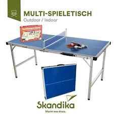 Skandika Multi-Spieletisch Kinder-Tischtennisplatte mit Spielesammlung Schläger