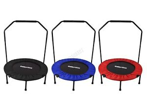 GALACTICA  Mini Trampoline – Foldable Fitness Rebounder With Handrail – 36/40/48