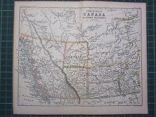 1887 ANTIQUE MAP DOMINION CANADA WESTERN PROVINCES ATHABASCA ALBERTA VANCOUVER