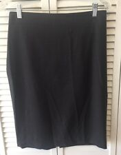 Barneys New York Grey  Back Zip Skirt - Size 8